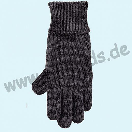 GENIAL: Fingerhandschuhe aus reiner Schurwolle für Kinder - anthrazit