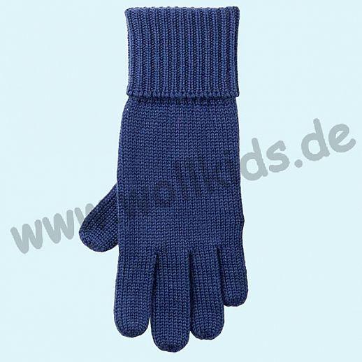 GENIAL: Fingerhandschuhe aus reiner Schurwolle für Kinder - blau