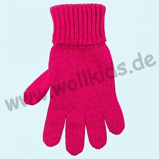GENIAL: PurePure Fingerhandschuhe für Kinder - Schurwolle kbT mit Seide Organic himbeer