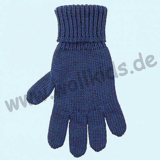 GENIAL: PurePure Fingerhandschuhe für Kinder - Schurwolle kbT mit Seide Organic marine
