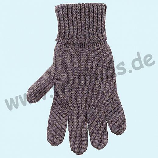 GENIAL: PurePure Fingerhandschuhe für Kinder - Schurwolle kbT mit Seide Organic schiefer grau