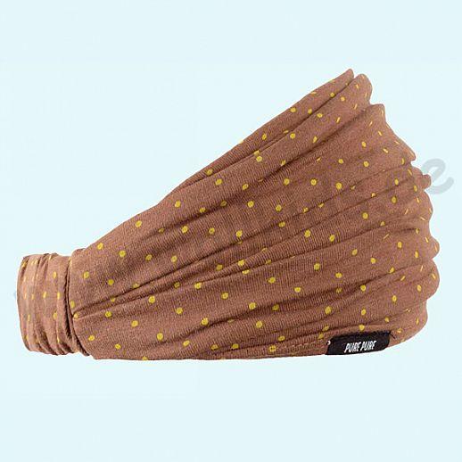 NEU: Sonnenschutz Badana Haarband Kopftuch mit UV Schutz UPF 15-20 - karamell mit safran Pünktchen