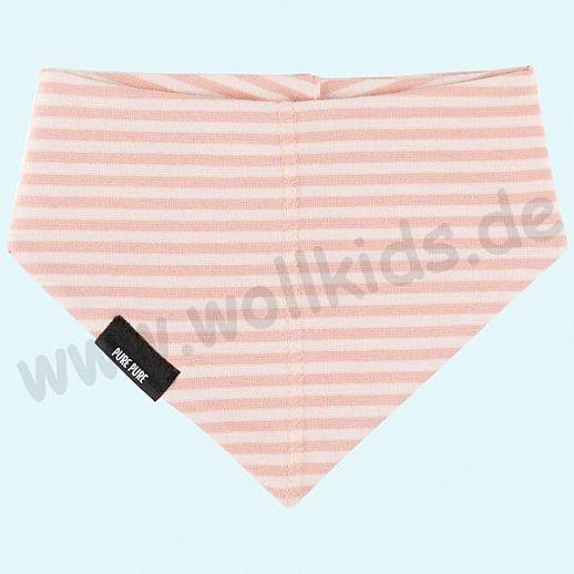 NEU: Baby Halstuch Dreiecktuch Sonnenschutz UV Schutz UPF 20-25 - rose Ringel