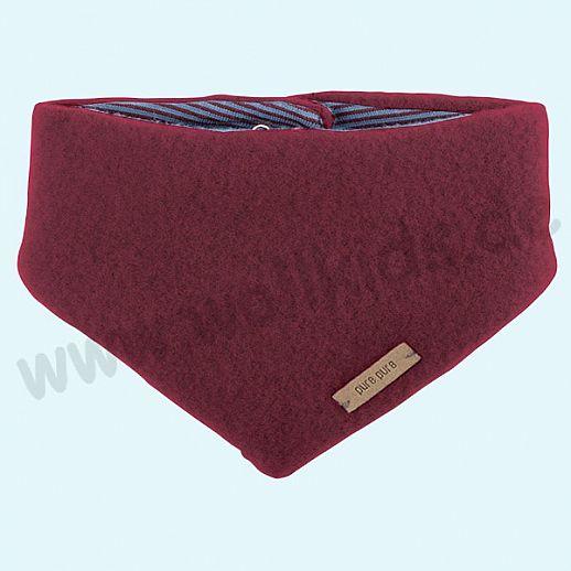 Puretex Schal, Halstuch, Tuch, Dreiecktuch kbT Schurwolle Wollfleece - bordeaux