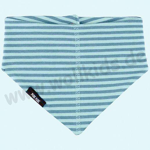 NEU: Baby Halstuch Dreiecktuch Sonnenschutz UV Schutz UPF 20-25 - blau Ringel