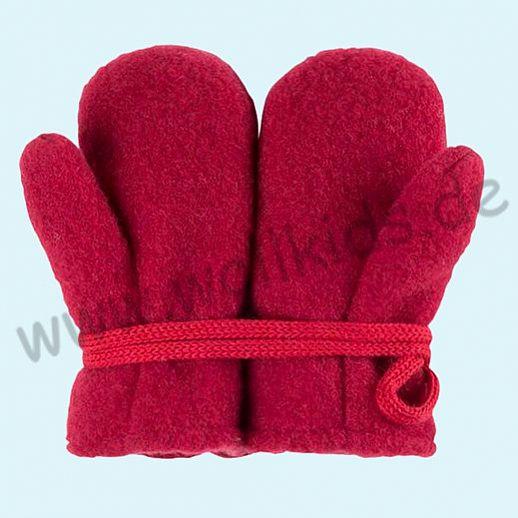 NEU in 3 Größen! PURE PURE by Bauer: Richtig warme weiche Wollfleece Handschuhe Fäustlinge kirsch rot