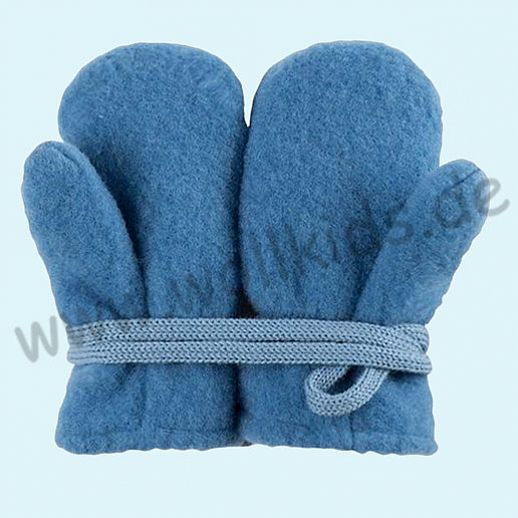 NEU in 3 Größen! PURE PURE by Bauer: Richtig warme weiche Wollfleece Handschuhe Fäustlinge azur blau