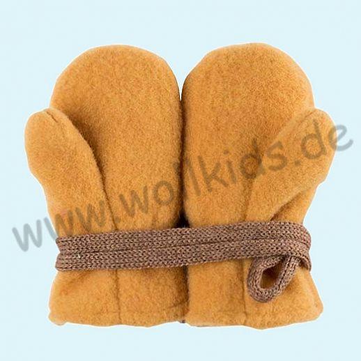 NEU in 3 Größen! PURE PURE by Bauer: Richtig warme weiche Wollfleece Handschuhe Fäustlinge curry