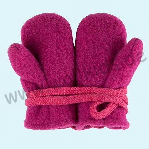 NEU in 3 Größen! PURE PURE by Bauer: Richtig warme weiche Wollfleece Handschuhe Fäustlinge pink