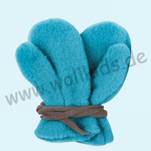 NEU in 3 Größen! PURE PURE by Bauer: Richtig warme weiche Wollfleece Handschuhe Fäustlinge türkis