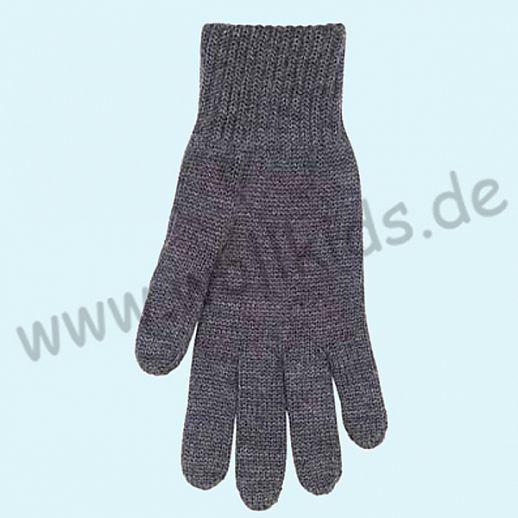 NEU & GENIAL: Endlich auch für Herren... Fingerhandschuhe aus reiner Schurwolle - anthrazit