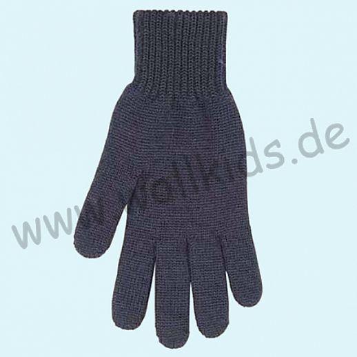 NEU & GENIAL: Endlich auch für Herren: Fingerhandschuhe aus reiner Schurwolle - marine