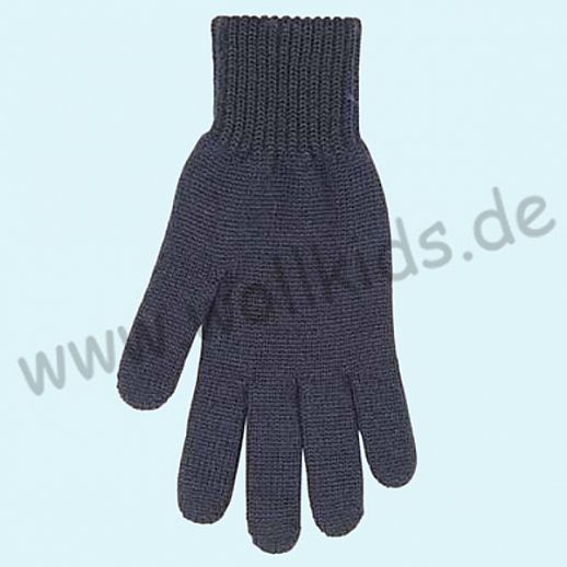 NEU & GENIAL: Endlich auch für Herren: Fingerhandschuhe aus reiner Schurwolle - schwarz