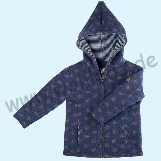 NEU: Pure-Tex Süße Walkjacke, blau mit Sternen, kbT Schurwolle