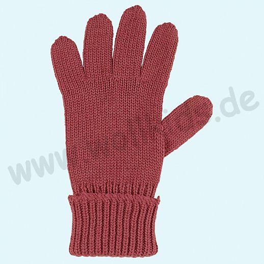 GENIAL: PurePure Fingerhandschuhe für Kinder - Schurwolle kbT mit Seide Organic bordeaux