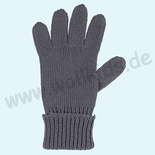 GENIAL: PurePure Fingerhandschuhe für Kinder - Schurwolle kbT mit Seide Organic dark ink