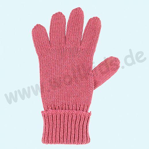 GENIAL: PurePure Fingerhandschuhe für Kinder - Schurwolle kbT mit Seide Organic fuchsia