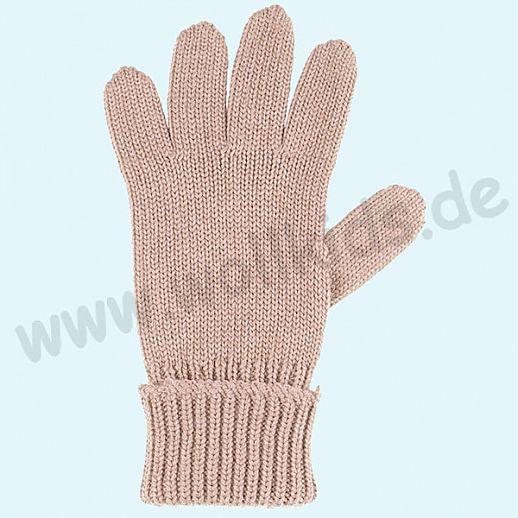 GENIAL: PurePure Fingerhandschuhe für Kinder - Schurwolle kbT mit Seide Organic rose