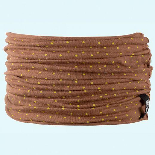 NEU: Schlauchschal mit UV Schutz UPF 20-25 - passend zur Beanie - karamell mit safran Punkten