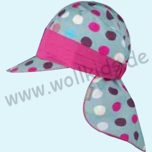 NEU: PurePure UV Schutz Mütze mit Nackenschutz - super süße Mädchenmütze kbA