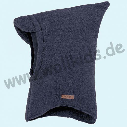 NEU: Pure-Tex Weiche Wollfleece Mütze Schlupfmütze jeans - blau, GOTS, kbT Wolle