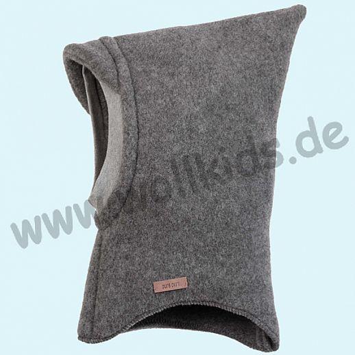 NEU: Pure-Tex Weiche Wollfleece Mütze Schlupfmütze schiefer - grau, GOTS, kbT Wolle