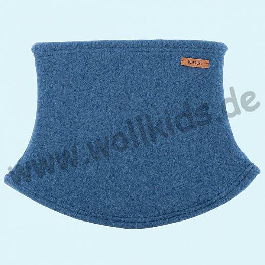 PURE PURE by Bauer: Schal, Halssocke, Schlupfschal Schal kbT Schurwolle Wollfleece nautic blue - blau