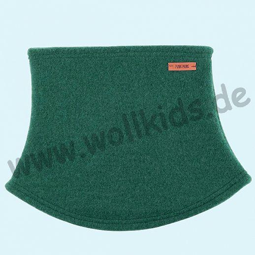 PURE PURE by Bauer: Schal, Halssocke, Schlupfschal Schal kbT Schurwolle Wollfleece smoke green - grün