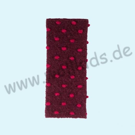 NEU: Pure-Tex Walk Handstulpe Pulswärmer, kbT Schurwolle burgund-cherry