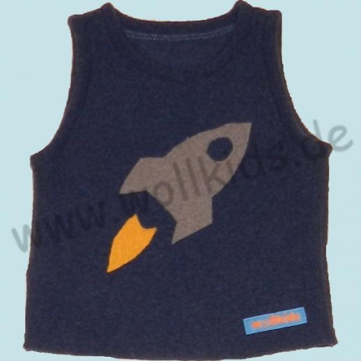 NEU: Schlupfweste Pullunder Rakete navy Schurwolle