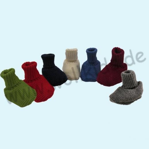 REIFF - BABYSCHUHE - 100% kbT-Schurwolle Schuhe BIO Organic uni