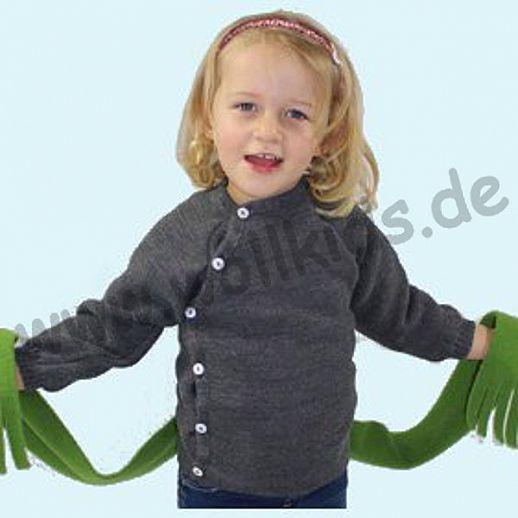 REIFF Schlüttli 100% kbT-Schurwolle Ringel Wickel-Pulli BIO Pullover Uni
