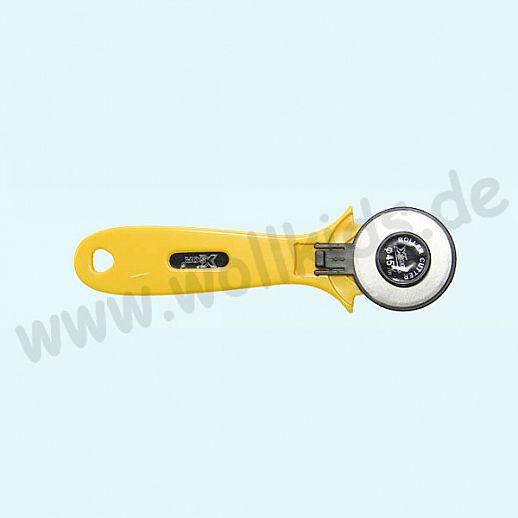XSOR - Rollenschneider - 45mm - Rollschneider - für Stoff und vieles mehr - Edelstahl -