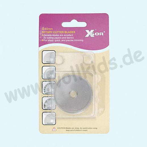XSOR - Ersatzklinge für Rollenschneider - 45mm - Rollschneider - Edelstahl - super Qualität