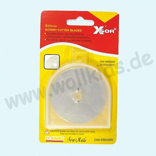 XSOR - Ersatzklinge für Rollenschneider groß - 60mm - Rollschneider - Edelstahl - super Qualität