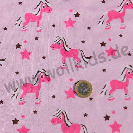 BIO-Interlock rosa Pferd Ringelsocke Organic - ideal für Babykleidung
