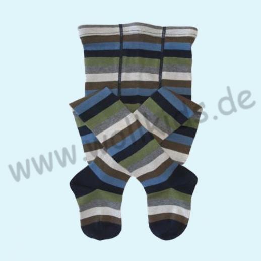SALE - GRÖDO: Kinderstrumpfhose Ringel bunt geringelt kbA BW