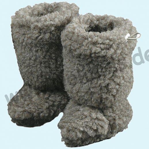 NEU: 2 Größen!! Babystiefel - Schuhe ideal für Traglinge - SALING - Schurwolle - hellbraun