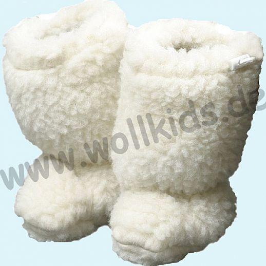 NEU: 2 Größen!! Babystiefel - Schuhe ideal für Traglinge - SALING - Schurwolle - natur