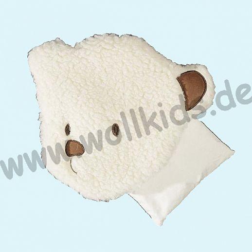 Saling -Kirschkrenkissen Bärengesicht natürliche Schurwolle - das Beste fürs Baby & Kind