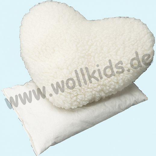 Saling -Kirschkrenkissen Herz natürliche Schurwolle - das Beste fürs Baby & Kind