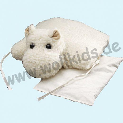 SALING - Nilpferd Kirschkernkissen Schurwolle - kuschelig & warm für Baby & Kind