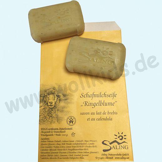 SALING - Schafmilchseife Ringelblume - Natur Pur - BDIH zertifizierte Naturkosmetik - 100g