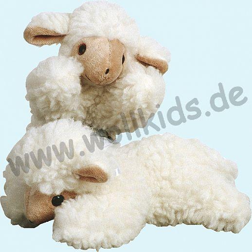 SALING - Schaf liegend - Schmusetiere aus Wolle - Kuscheltier aus weicher Schurwolle