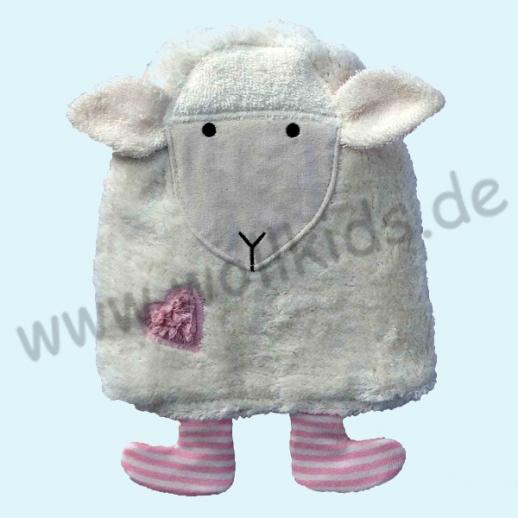 Pat & Patty: Kuscheltier Schaf Lämmchen rosa oder bleu Wärmekissen Bio Dinkel 100% kbA Baumwolle