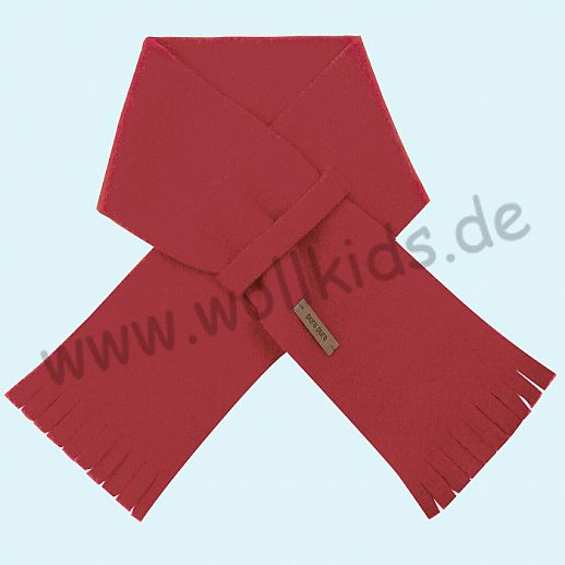 PURE PURE by Bauer: Schal, Schurwollfleece kbT Schurwolle Wollfleece - kirsch rot