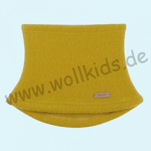 PURE PURE by Bauer: Schal, Halssocke, Schlupfschal Schal kbT Schurwolle Wollfleece  lemon curry