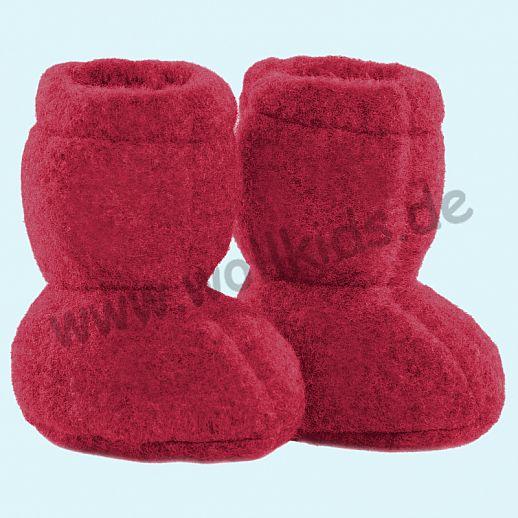 PURE PURE by Bauer: Wollfleece weiche Babystiefel - Schuhe ideal auch für Traglinge - rot
