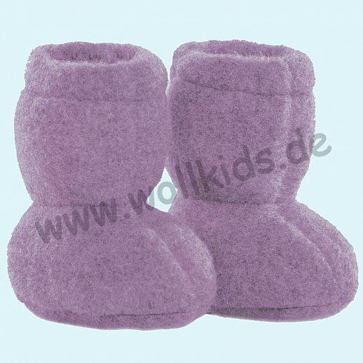 PURE PURE by Bauer: Wollfleece weiche Babystiefel - Schuhe ideal auch für Traglinge - lavendel