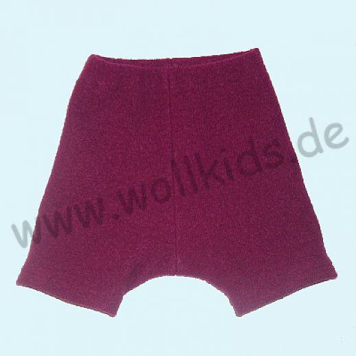 WOLLKIDS Mini-Shorts Bermuda Hose in beere Walk 100% Schurwolle ab 110-116